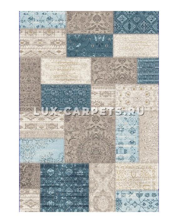 Ковр. дорожка 0.8x1 Grand Aqua 2091F d.blue/beige